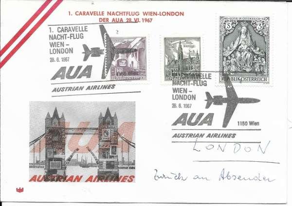 1 Nachttflug AUA Wien - London 28.6.1967