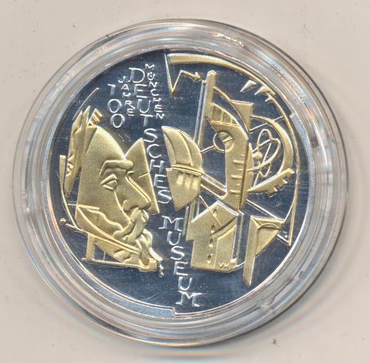10 Euro 2003 Deutsches Museum - Teilvergoldet Deutschland