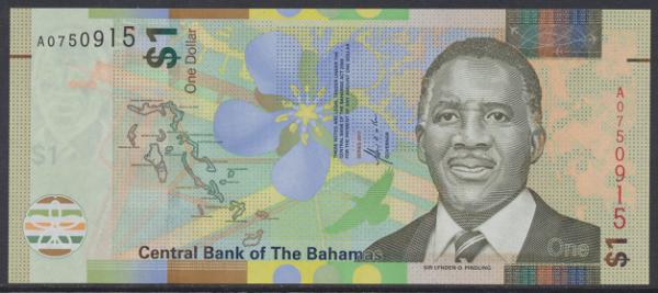 Bahamas -1 Dollar 2017 UNC - Pick 77