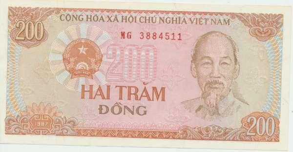 Vietnam- 200 Dong 1987 UNC - Pick Nr.100
