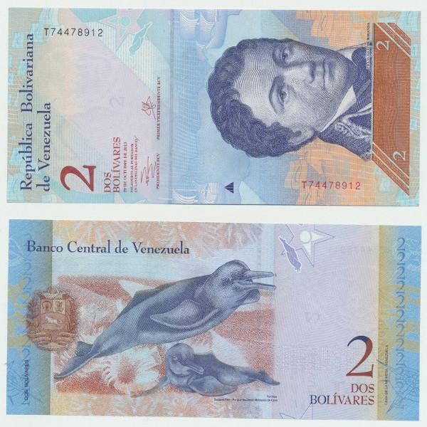 Venezuela – 2 Bolivares 29.10.2013, (P.) Erh. UNC