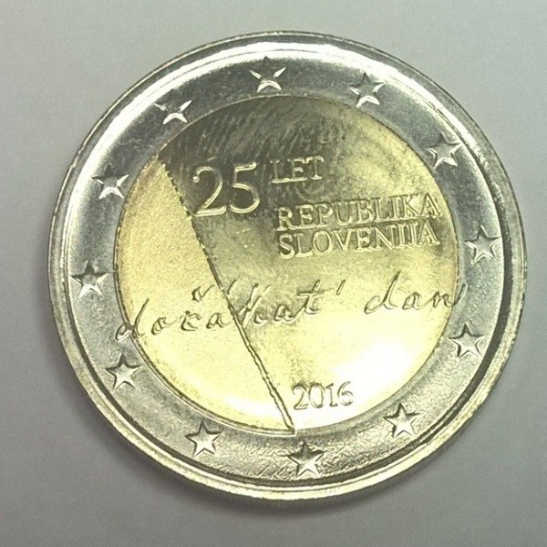 2 Euro Slowenien 2016 25 Jahre Rep. Slowenien