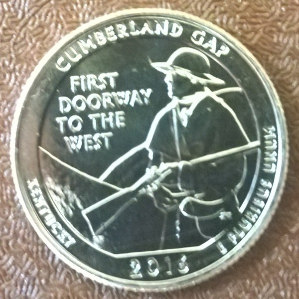 USA 25 Cent 2016 P Cumberland Gap (32)