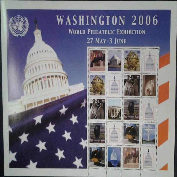 UNO New York GRUSSMARKEN 84 C BOGEN Washington 2006 Postfrisch (22)