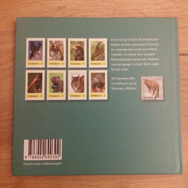 Briefmarkenbuch Wildtiere in Österreich mit 8 exklusiven Marken