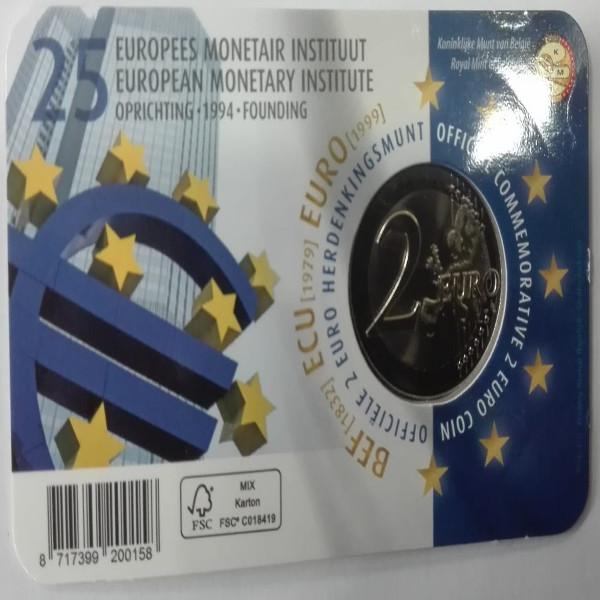 2 Euro Belgien 2019 Coincard 25 Jahre Europäisches Währungsinstitut
