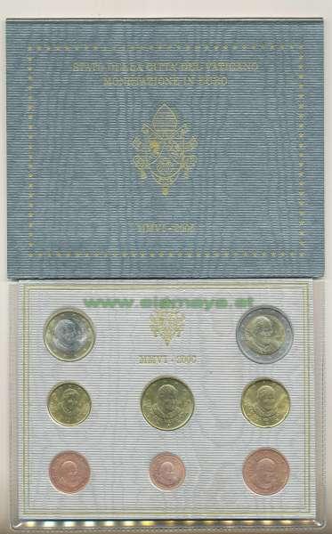 Kursmünzensatz Vatikan 2005 Sedevacans KMS Coinset