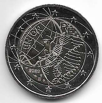 2 Euro Frankreich 2020 Union
