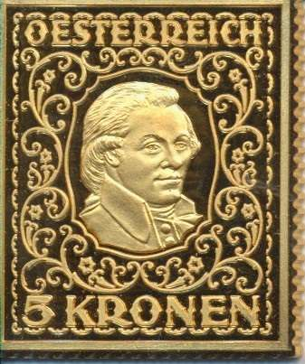 Collection Magna Austria Silber K&K 5 Kronen 24 Karat Vergoldet
