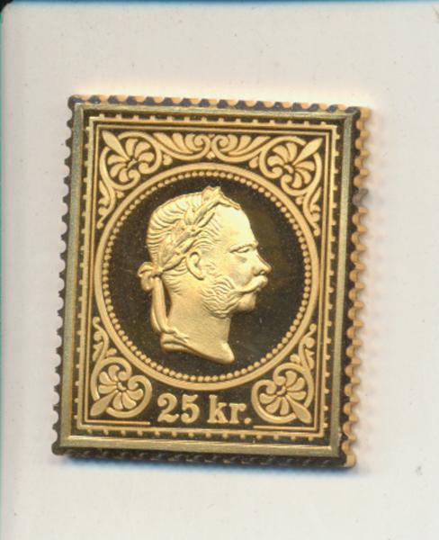 K&K Jubiläums Collection Königskopf im Perlkreis 25 Kreuzer 1867 K&K Silber Gold