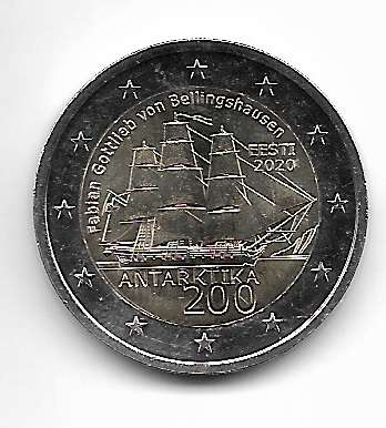 2 Euro Estland 200 Jahre Entdeckung der Antarktis 2020