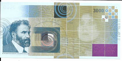 Gustav Klimt 3000 Gustav Klimt Austria OEBS0007499 UNC Original