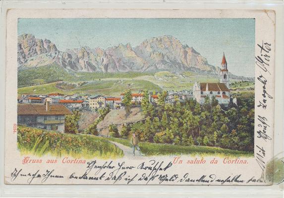 Gruss aus Cortina Un saluto da Cortina ca.1911