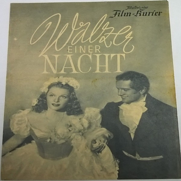 Illustrierter Film - Kurier Walzer einer Nacht