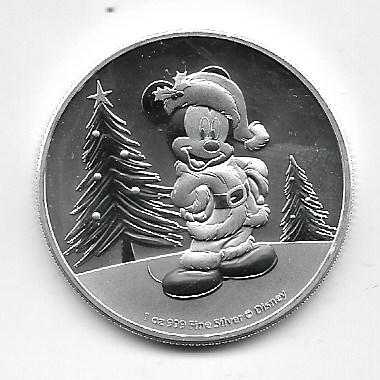 Niue - 2 Dollar 2019 - Disney Mickey - 31,1g 1 Oz Silber 1 Unze
