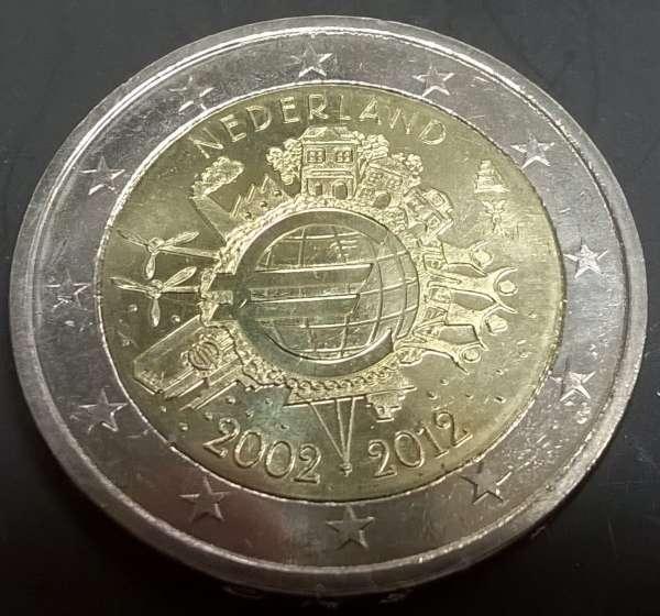 2 Euro Niederlande 2012 10 Jahre Euro