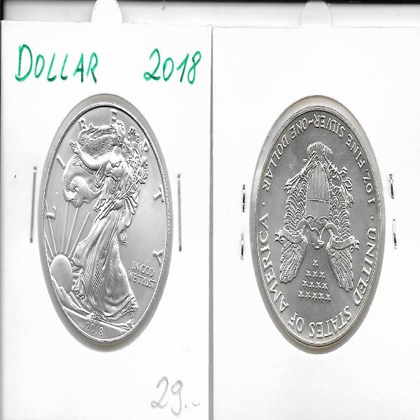 1 Dollar Silber Eagle Unze 2018