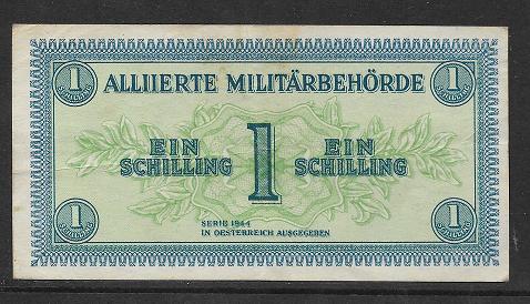 1 Schilling 1944 Wz. Wellen Ank 240b Pick 103 b) Alliierte Militärbehörde