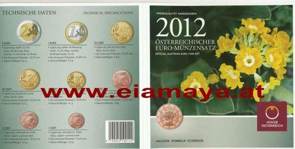 2012 offizieller Kursmünzensatz KMS Mintset