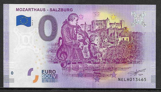ANK.Nr.35 Mozarthaus Salzburg Unc 0 Euro Schein 2019-3