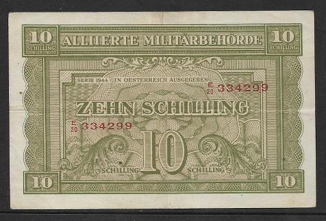 10 Schilling 1944 Ank243 a Pick 106 Alliierte Militärbehörde E20 334299