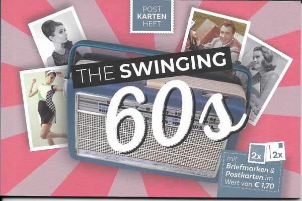The Swinging 60s Postkartenheft mit 2 Marken