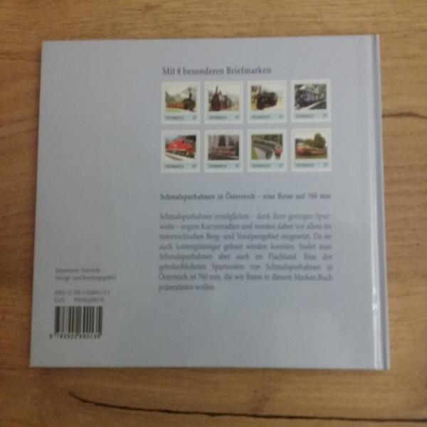 Briefmarkenbuch Schmalspurbahnen in Österreich eine Reise auf 760 mm mit 8 exklusiven Marken