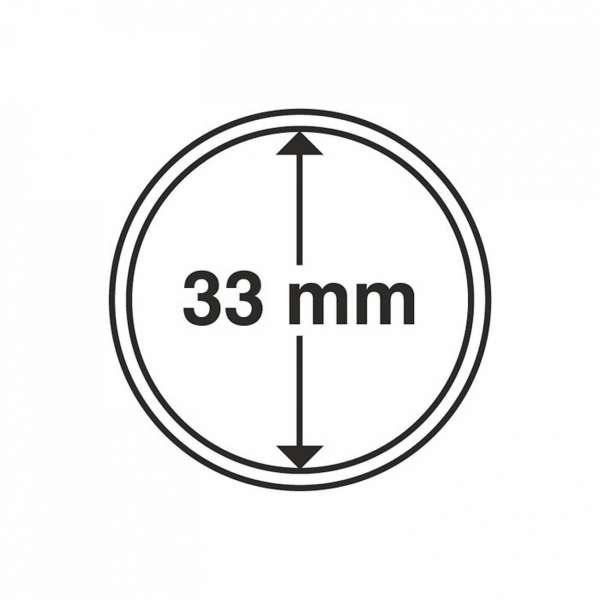 MÜNZKAPSELN CAPS 33 MM, 10 ER PACK