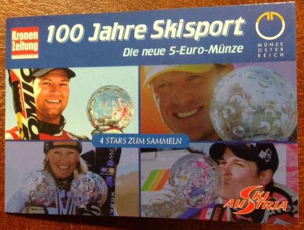 5 Euro Silber 2005 Skisport Serie 4 Stück ANK Nr. 5c