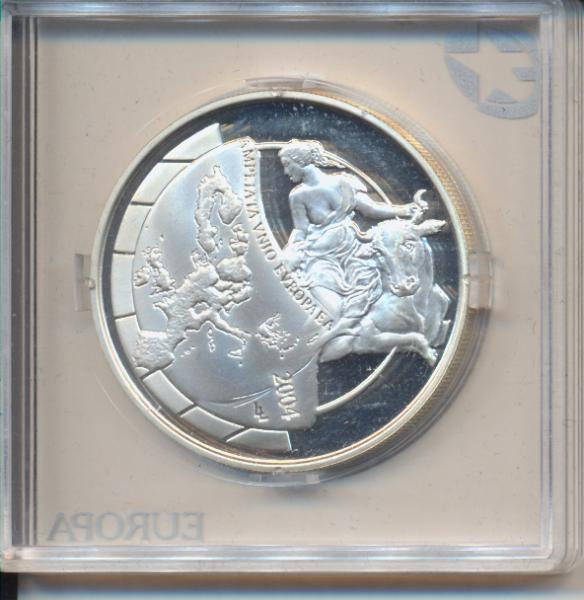 10 Euro 2004 PP Silber Ag Belgien EU-Erweiterung Europa Sternserie