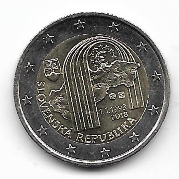 2 Euro Slowakei 2018 - 25 Jahre Republik Slowakei
