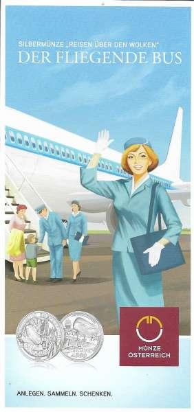 ANK Nr. 47 Flyer FOLDER ZU DER 20 EURO Münze Reisen über den Wolken 2020
