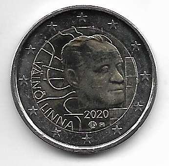 2 Euro Finnland 2020 100 Geburtstag von Väinö Linna