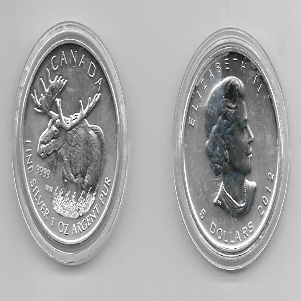 Kanada 5 Dollars 2012 Elch 1 Unze Silber Oz Canada