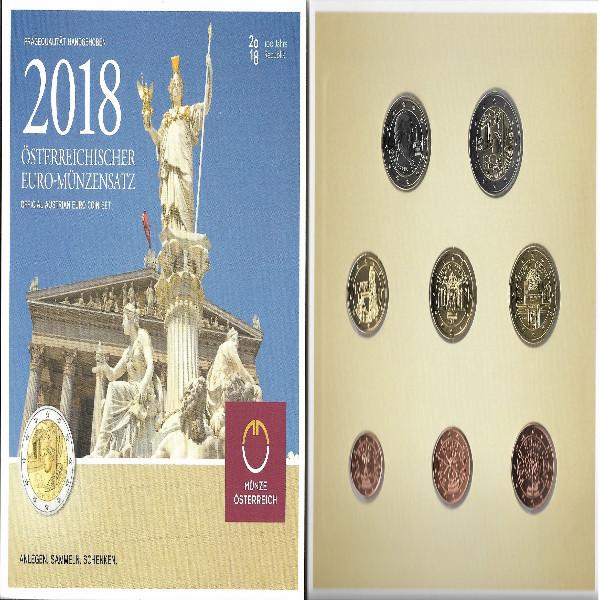 2018 offizieller Kursmünzensatz KMS Mintset Österreich