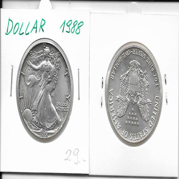 1 Dollar Silber Eagle Unze 1988