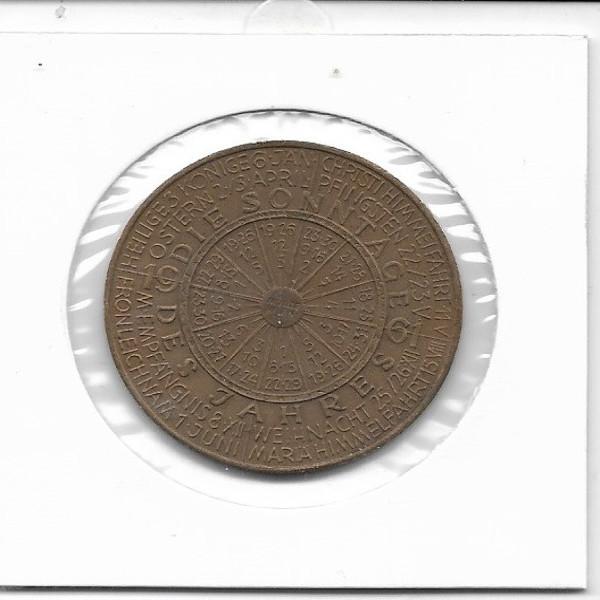 1961 Kalendermedaille Jahresregent Bronze