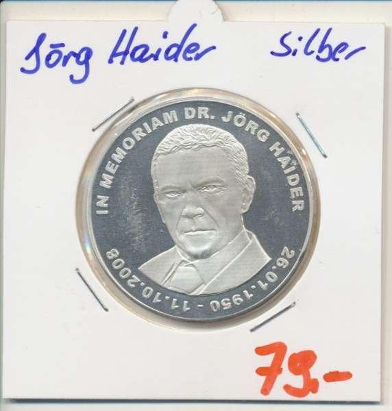 Erinnerungsmedaille Dr. Jörg Haider Silber Landeshauptmann von Kärnten