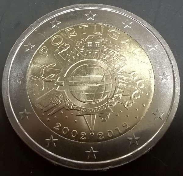 2 Euro Portugal 2012 10 Jahre Euro