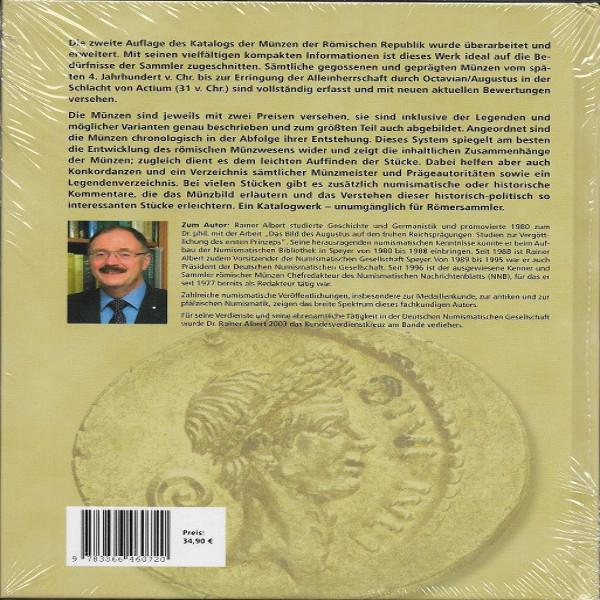 Die Münzen der römischen Republik 2 Auflage Rainer Albert Battenberg
