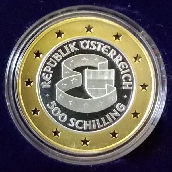 500 Schilling - EU-Beitritt Österreichs (1995) Bimetall