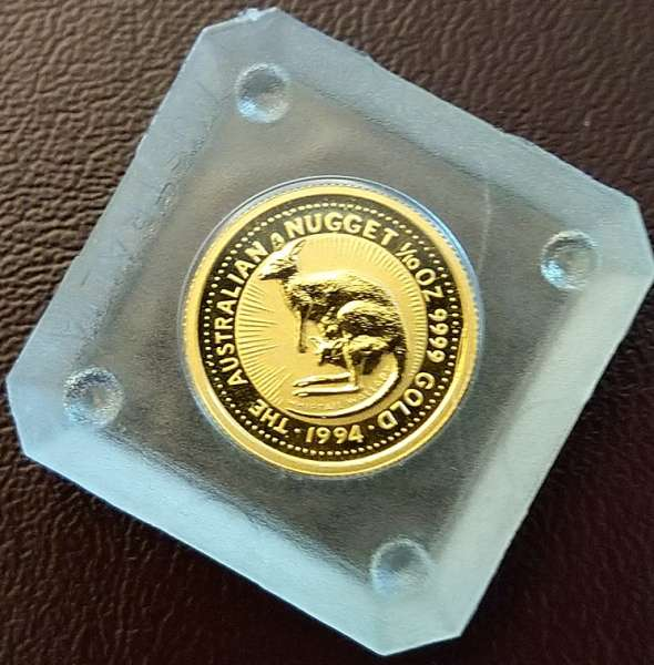 Kangaroo 1994 Gold 3,1g 1/10 oz 15 Dollars 1/10 Unze The Australien Nugget