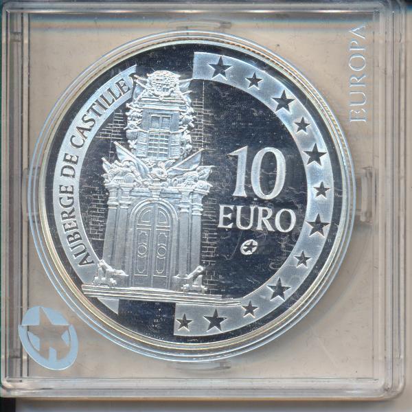 10 Euro Malta 2008 PP Auberge de Castille Silber Ag Europa Stern