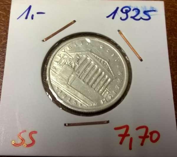 1 Schilling 1925 Silber