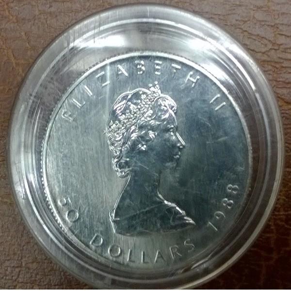 1 unze Platin Kanada Maple Leaf 1988 50 Dollars