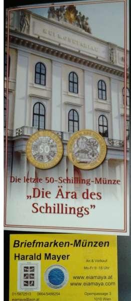 50 Schilling 2001 Schilling Währung Blister HgH Bimetall
