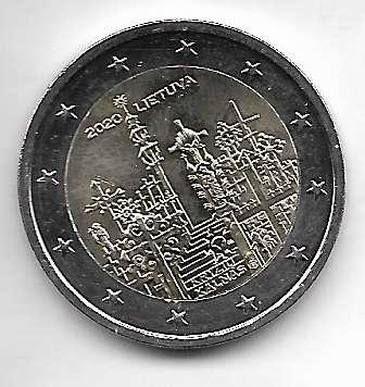 2 Euro Litauen 2020 Berg der Kreuze