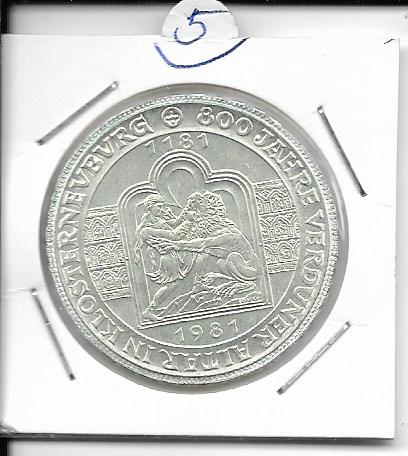 ANK Nr. 05 800 Jahre Verduner Alter in Klosterneuburg 1981 500 Schilling Silber Normal