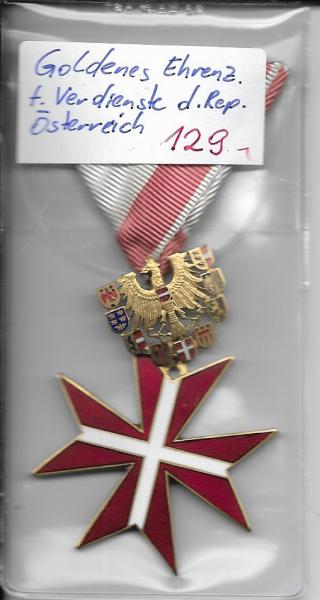 Goldenes Ehrenzeichen für Verdienste der Republik Österreich ohne Etui
