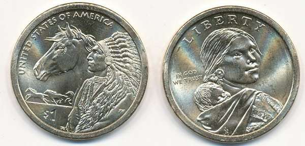 1 Dollar USA 2012 P Sacagawea - Nativ Dollar